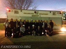 Class Photo in front of PFD Rescue 1