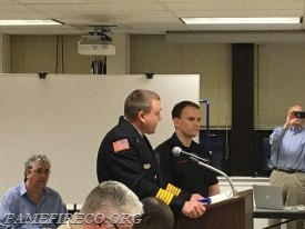 WCFD Fire Chief Jonathan Stafford describes FF Jamie Harkins' heroic actions to save the life of Amy Yozviak in early November 2017.