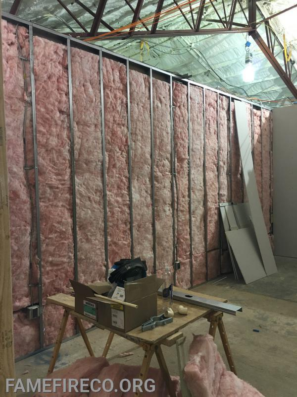 Insulation in new President/Administration Office.