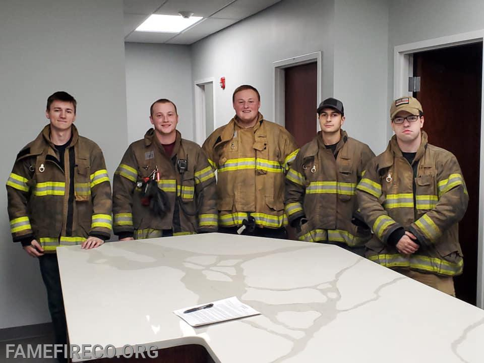 Inaugural members of our Live-In Firefighter Program!