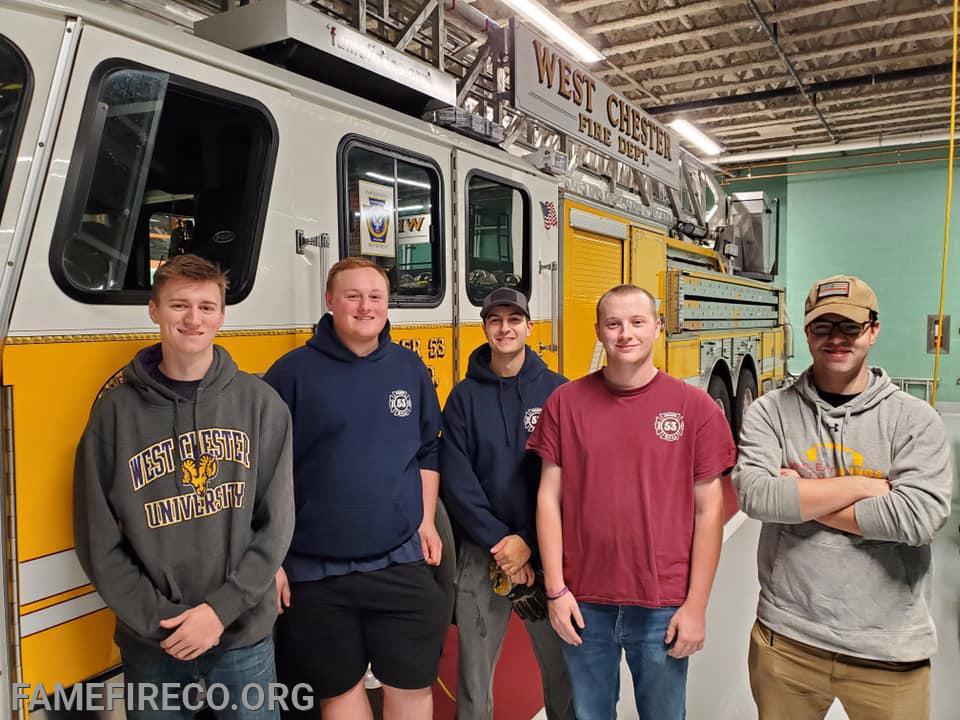 FF Max Quinn, FF Jeremy Sullivan, FF Ethan Mazer, Lt Andrew Fitzgerald, FF John Dougherty